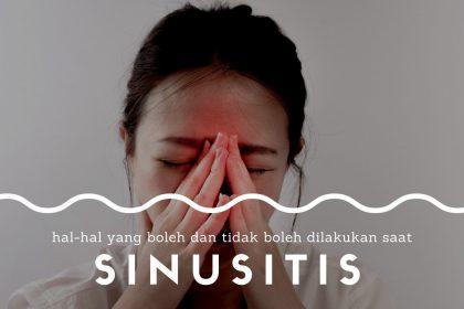 pencegahan dan pengobatan sinusitis