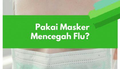 masker mencegah flu